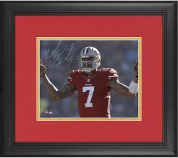 "Colin Kaepernick San Francisco 49ers Framed Autographed 8"" x 10"" Fingers Photograph"