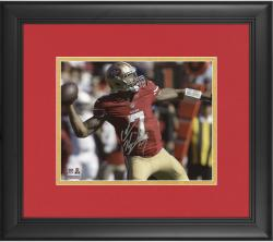 "Colin Kaepernick San Francisco 49ers Framed Autographed 8"" x 10"" Red Uniform Throwing Photograph"