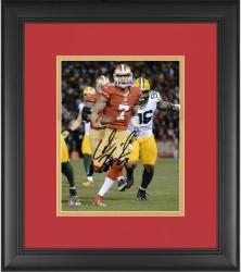 "Colin Kaepernick San Francisco 49ers Framed Autographed 8"" x 10"" Run Photograph"