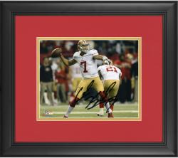 "Colin Kaepernick San Francisco 49ers Framed Autographed 8"" x 10"" Throw Photograph"