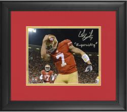 "Colin Kaepernick San Francisco 49ers Framed Autographed 8x10 Photograph with ""Kaepernicking"" Inscription"