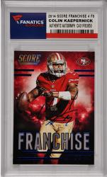 Colin Kaepernick San Francisco Authographed 49ers 2014 Score Franchise #F9 Card