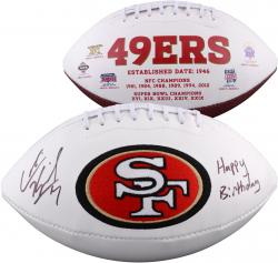 Colin Kaepernick San Francisco Autographed White Panel Football with Happy Birthday Inscription