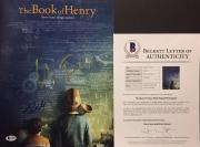 Colin Trevorrow Dean Norris Jacob Tremblay Signed Book Of Henry 11x14 Photo BAS