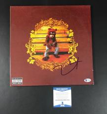 College Dropout Kanye West Signed Authentic Autograph Vinyl Album Lp Beckett Bas