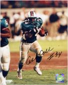 Cecil Collins Miami Dolphins Autographed 8'' x 10'' Running Photograph - Mounted Memories