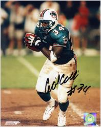 Cecil Collins Miami Dolphins Autographed 8'' x 10'' Teal Uniform Photograph - Mounted Memories