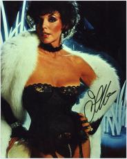 Joan Collins Autographed 8'' x 10'' Black Lace Photo