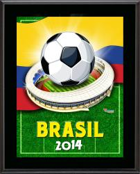 "Colombia 2014 Brazil Sublimated 10.5"" x 13"" Plaque"