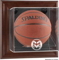 Colorado State Rams Brown Framed Wall-Mountable Basketball Display Case