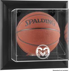 Colorado State Rams Black Framed Wall-Mountable Basketball Display Case