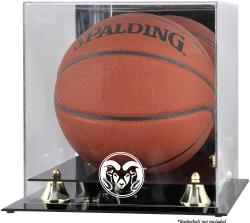 Colorado State Rams Golden Classic Basketball Display Case with Mirror Back