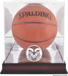 Colorado State Rams Mahogany Antique Finish Basketball Display Case with Mirror Back