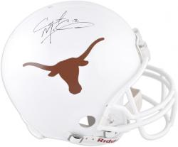 Colt McCoy Texas Longhorns Autographed Authentic Riddell Pro-Line Helmet  - Mounted Memories