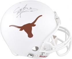 Colt McCoy Texas Longhorns Autographed Authentic Riddell Pro-Line Helmet  - Mounted Memories