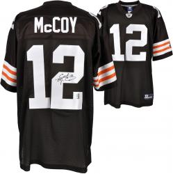 Colt McCoy Cleveland Browns Autographed Brown Jersey - Mounted Memories