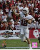 "Colt McCoy Texas Longhorns Autographed 8"" x 10"" Releasing Ball Photograph"