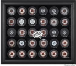Columbus Blue Jackets 30-Puck Black Display Case - Mounted Memories