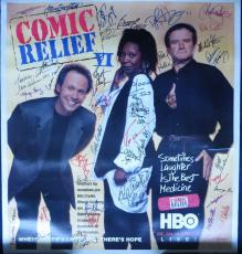 Comic Relief Multi-Signed 34x36 Poster 48 Signatures w/ Robin Williams PSA/DNA