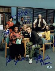 Community TV Cast Autographed Signed 11x14 Photo Certified Authentic BAS COA