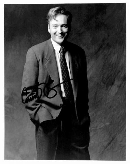 Conan OBrien autographed 8x10 photo (Late Night Talk Show Host 67) Image #1