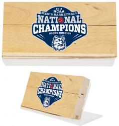 Connecticut Huskies Game Used (final 4)  Floor - 3x5 W/ Stand