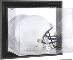Connecticut Huskies Black Framed Wall-Mountable Helmet Display Case