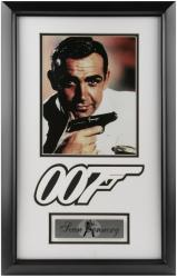 CONNERY, SEAN FRAMED PHOTO (JAMES BOND 007) 8X10 w/LOGO/PLATE