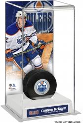 Connor McDavid Edmonton Oilers Deluxe Tall Hockey Puck Case