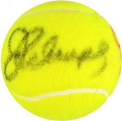 Jimmy Connors & Chris Evert Dual Autographed Wimbledon Logo Tennis Ball