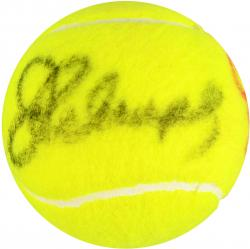 Jimmy Connors & Chris Evert Dual Autographed Wimbledon Logo Tennis Ball