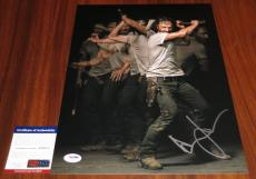Cool Andrew Lincoln Signed 11x14 The Walking Dead Rick Grimes PSA/DNA