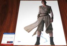 Cool Daisy Ridley Signed Star Wars 11x14 Jedi Rey The Force Awakens PSA/DNA