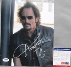 COOL SHOT!!! Kim Coates TIG Signed SONS OF ANARCHY SOA 8x10 Photo #3 PSA/DNA