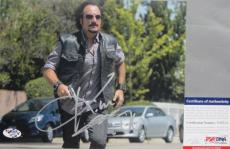 COOL SHOT!!! Kim Coates TIG Signed SONS OF ANARCHY SOA 8x10 Photo #4 PSA/DNA