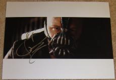 Cool Tom Hardy Signed 11x14 Bane Dark Knight Rises w/Proof