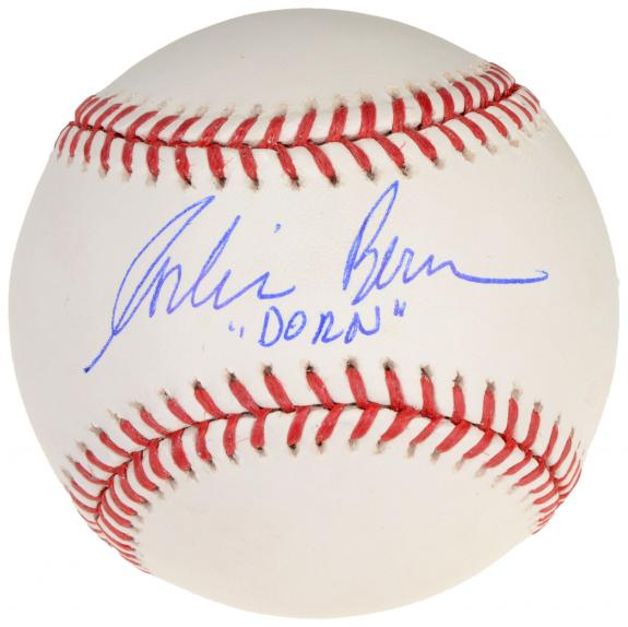 Corbin Bernsen Autographed Baseball with Dorn Inscription - Beckett COA