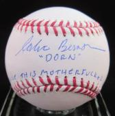 "Corbin Bernsen ""Dorn"" ""Strike This Motherf**ker Out"" Signed Baseball - Steiner"