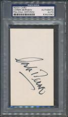 Corbin Bernsen Index Card PSA/DNA Certified Authentic Auto Autograph *0982