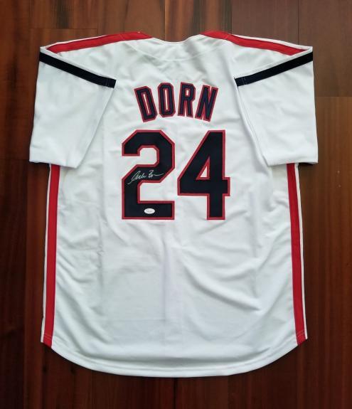 """Corbin Bernsen """"Roger Dorn"""" Autographed Signed Jersey Cleveland Indians JSA"""