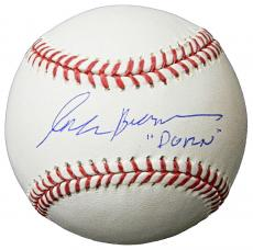 Corbin Bernsen Signed Rawlings Official MLB Baseball w/Dorn