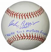 Corbin Bernsen Signed Rawlings Official MLB Baseball w/Dorn, Strike This Mother F**er Out