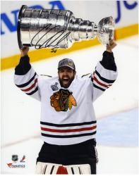 "Corey Crawford Chicago Blackhawks 2013 NHL Stanley Cup Final Champions 8"" x 10"" Autographed Photograph - Mounted Memories"