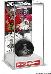 Corey Crawford Chicago Blackhawks 2015 Stanley Cup Champions Logo Deluxe Puck Case