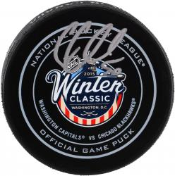 Corey Crawford Chicago Blackhawks Autographed 2015 Winter Classic Official Game Puck