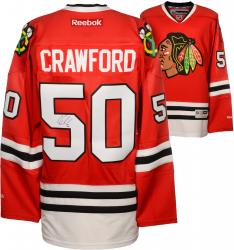 Corey Crawford Chicago Blackhawks Autographed Premier Red Jersey