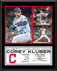 "Corey Kluber Cleveland Indians 2014 American League Cy Young Award 12"" x 15"" Sublimated Plaque"