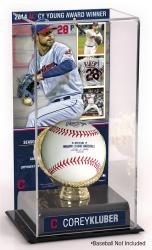 Corey Kluber Cleveland Indians 2014 American League Cy Young Award Gold Glove with Image Display Case