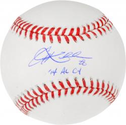 Corey Kluber Cleveland Indians Autographed Baseball with 14 AL Cy Young Inscription