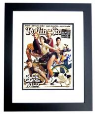 Cory Monteith and Lea Michele Signed - Autographed GLEE 11x14 inch Photo BLACK CUSTOM FRAME - Finn Hudson and Rachel Berry - Guaranteed to pass PSA or JSA